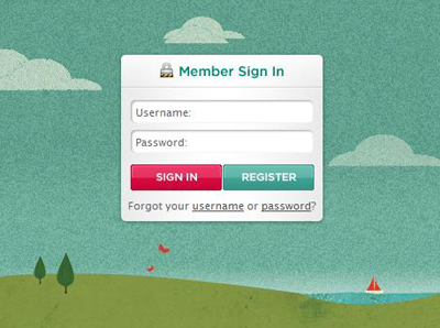 an example of good login form design