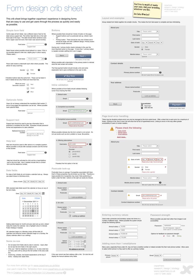 form design guidelines