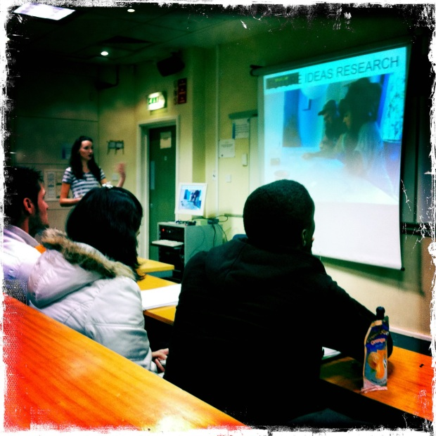 presenting sqoshi to MMU students