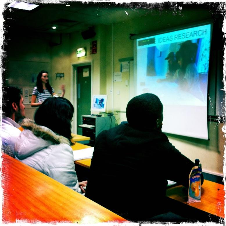 presenting sqoshi to MMU students